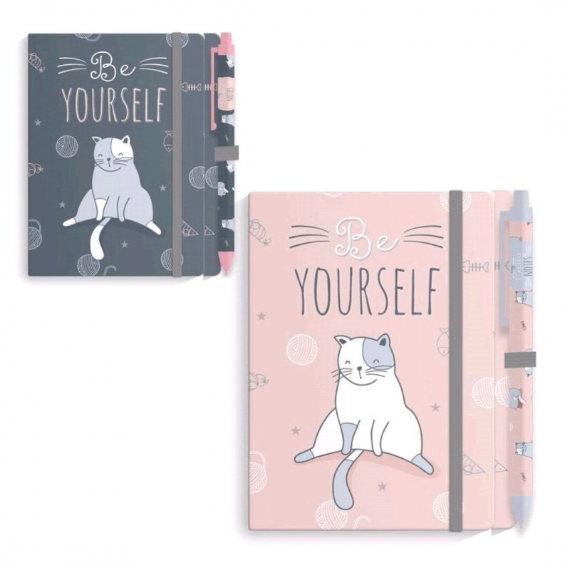 Cahier Chat avec Stylo