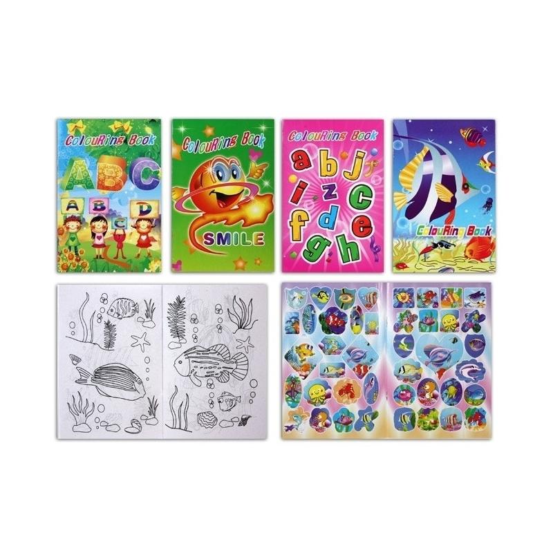 Livre de Coloriage avec Stickers