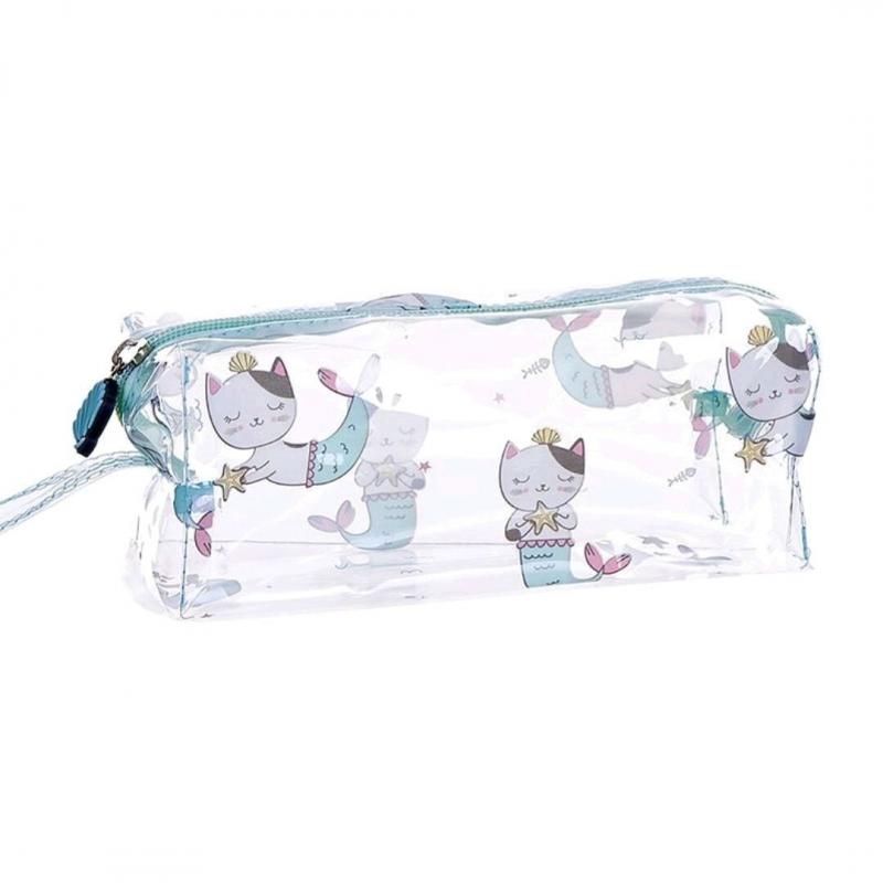 Trousse transparente Chat Sirène