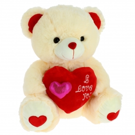 Peluche Ours Coeur Rouge