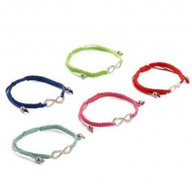 Lot de 100 bracelets infinis
