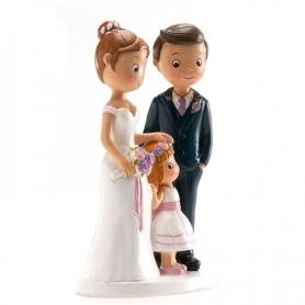 Figurine Mariage avec Petite Fille