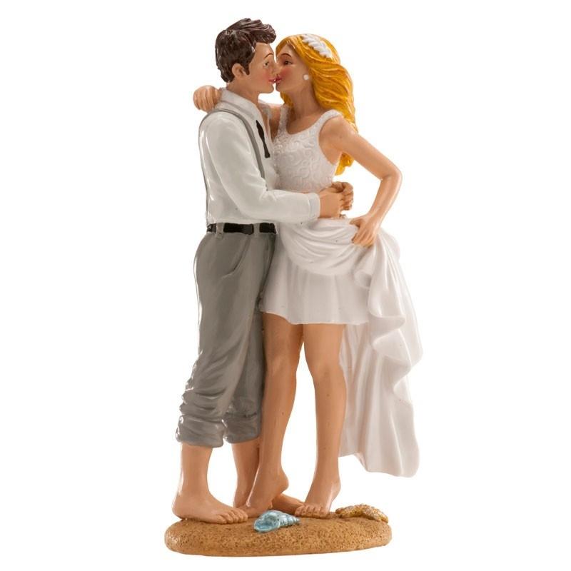 Figurine de Mariés à la Plage