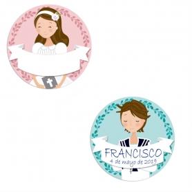 Paquet d'étiquettes de Communion à Personnaliser