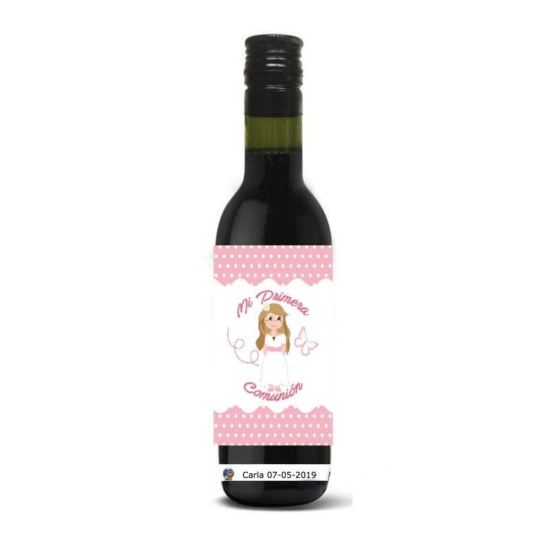Petite Bouteille de Vin pour Communion
