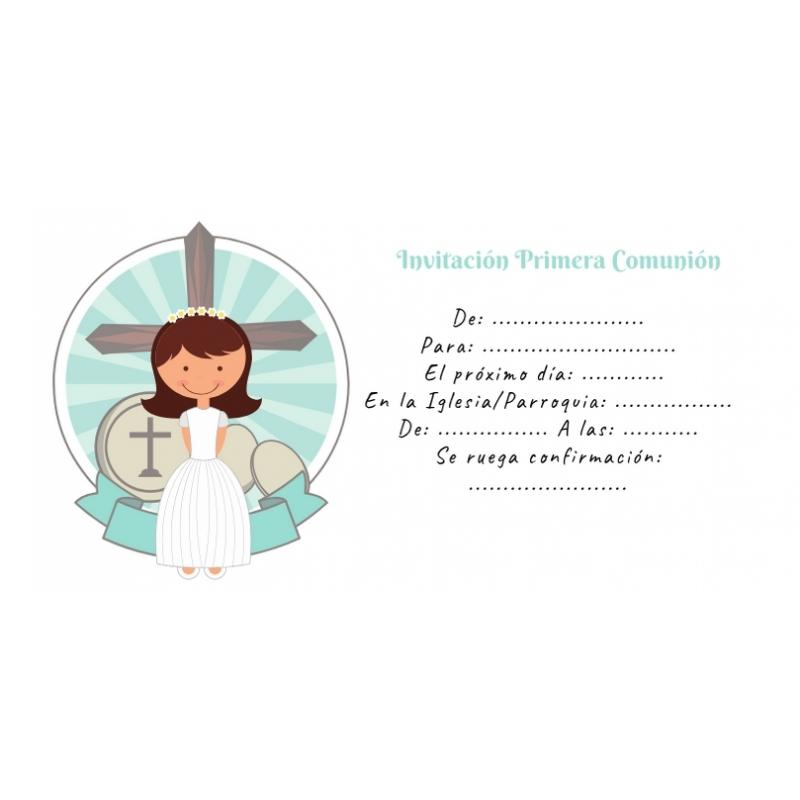 Faire-part de Communion Pré-rempli