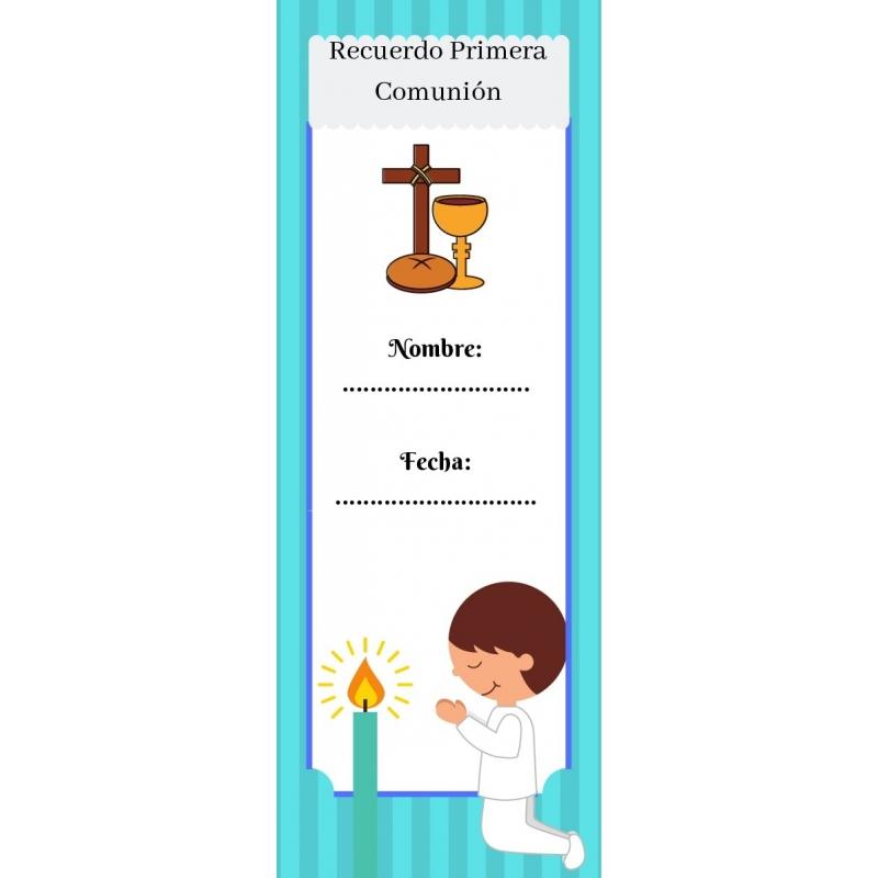 Marque Page De Communion Complements Et Accessoires Communion Complements