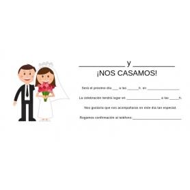 Faire-part mariage espagnol