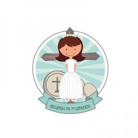 Adhésif communion de jeune fille