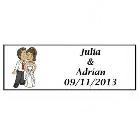 Etiquettes Autocollantes Mariage Will & Grace Bisou