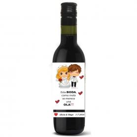 Petite Bouteille Vin pour Mariage
