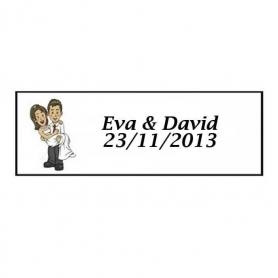 Etiquette autocollante personnalisee mariage Will & Grace