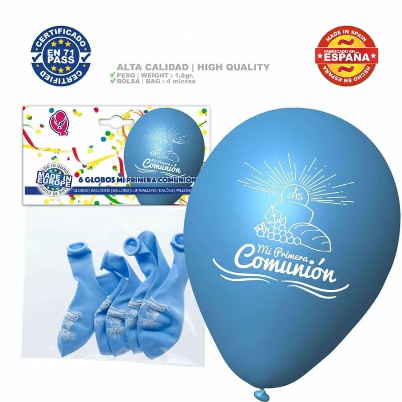 Ballons Bleus pour Communion