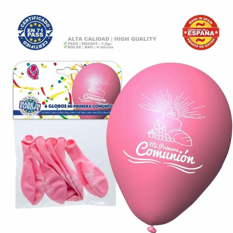 Pack de Ballons Rose pour Communion