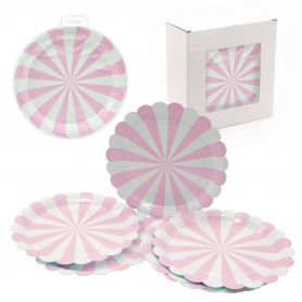 Assiettes Jetables Rose