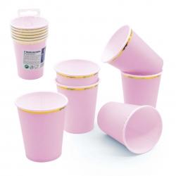 Pack de verres en carton rose