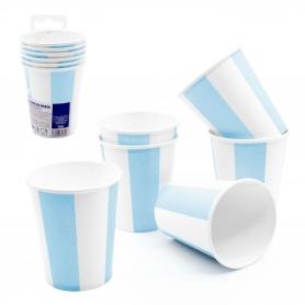 Pack de verres jetables bleus