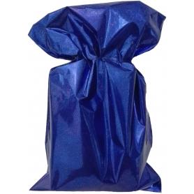 Pochette bleu métallisé