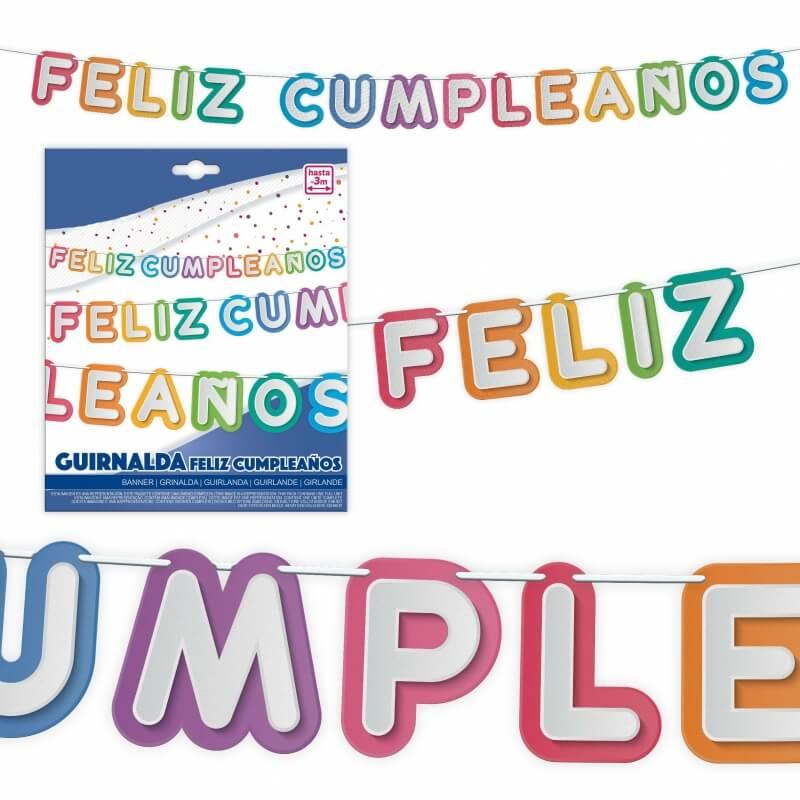Guirlande d'anniversaire en espagnol