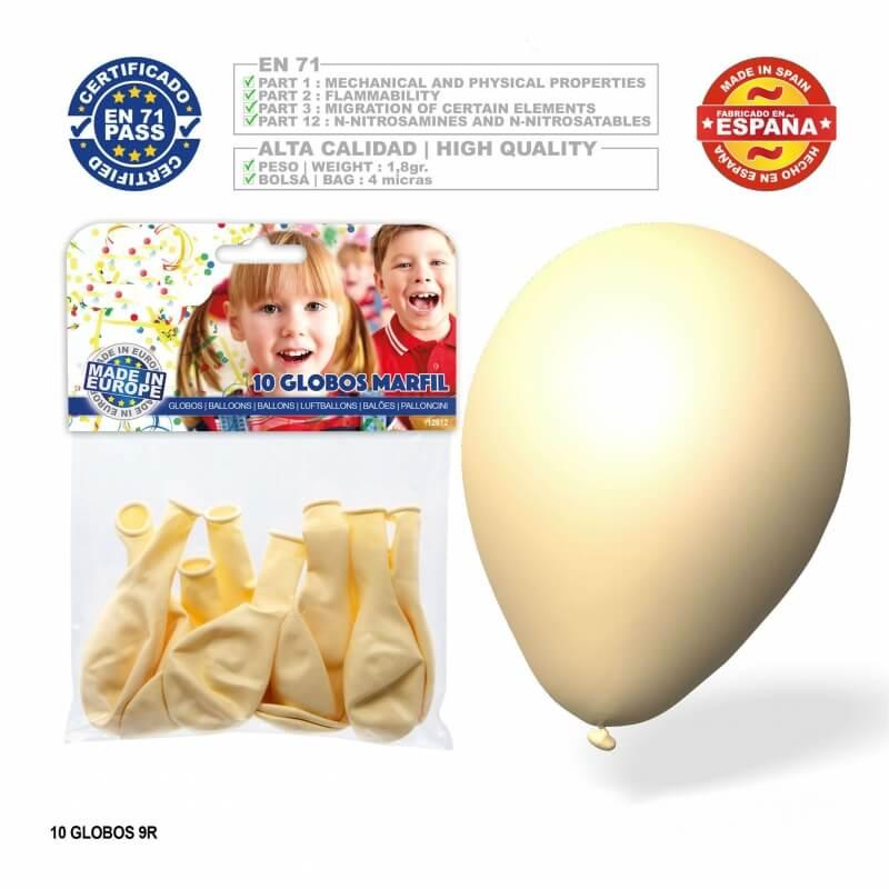 Paquet ballons ivoire