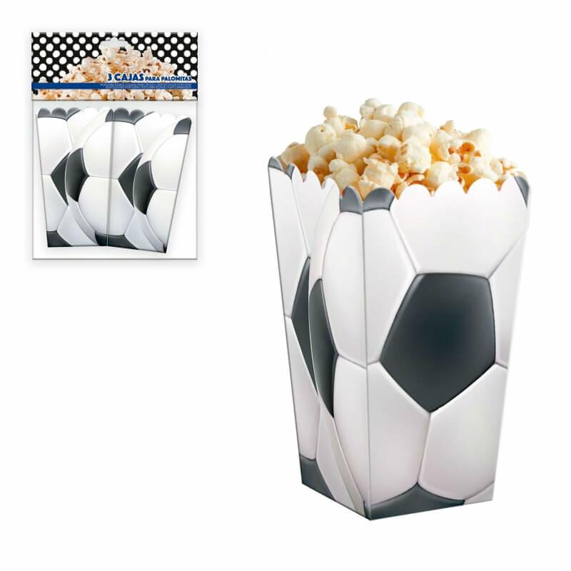 Paquet de boîtes à pop corn football