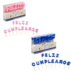 Paquet de bougie Feliz Cumpleaños