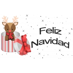 Adhésif de Noël en espagnol
