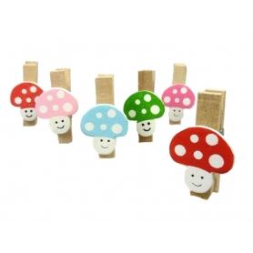 Mini pince champignon decoration cadeau
