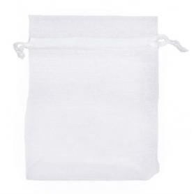 Petit sac en organza blanc a petit prix