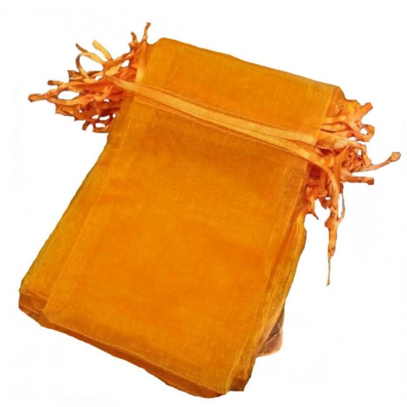 Pochette cadeau organza orange 13 x 17