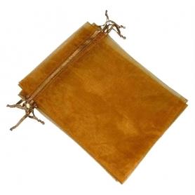 Petit sac organza pas cher chocolat 7x10