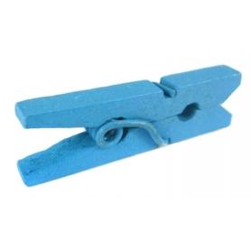 Mini Pinces Bois Bleu