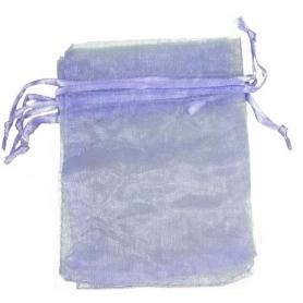 Petit sac organza lilas pas cher 7x10