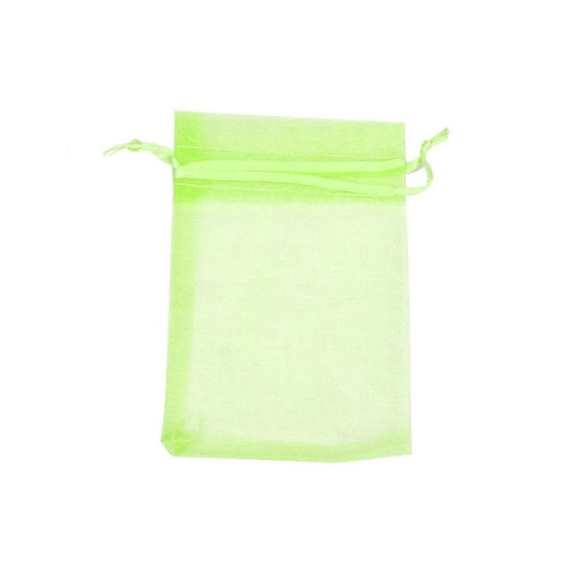 Petit sac cadeau organza pas cher vert