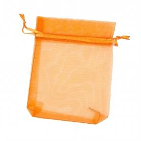 Pochette organza orange 9x15 pas cher
