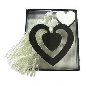 Marque-page en Forme de Cœur Mariage