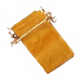 Cadeau invite sachet organza orange