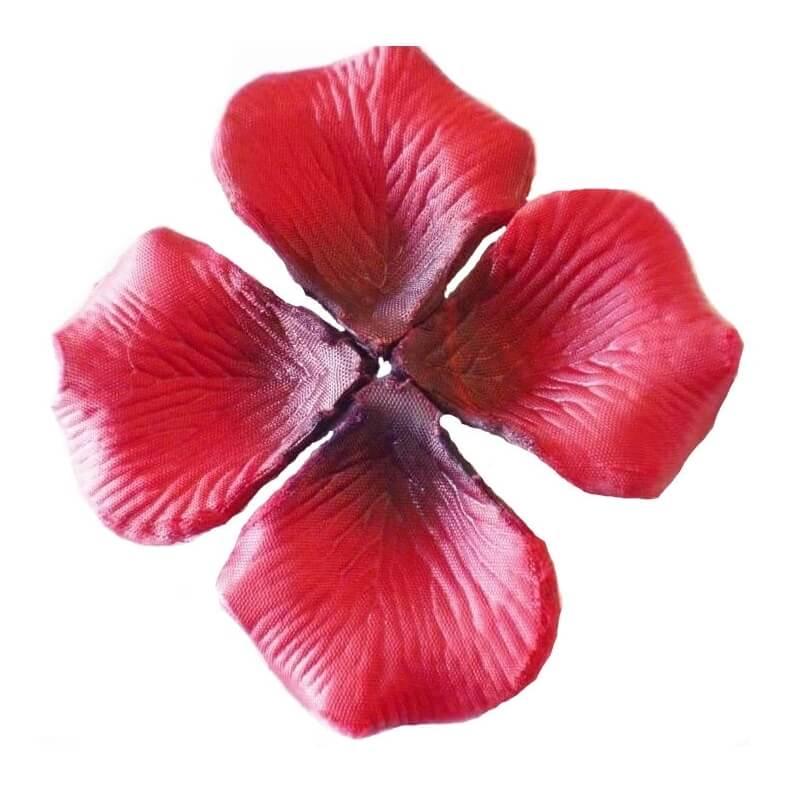 Petales de roses en tissu decoration mariage