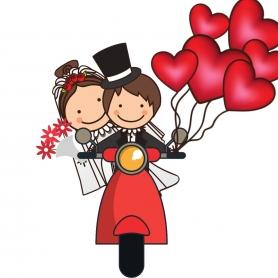 Adhésif pour mariage