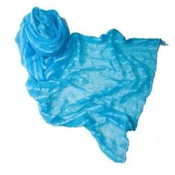 Pashmina turquoise bleu
