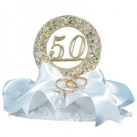 Figurine gateau mariage 50 ans anniversaire
