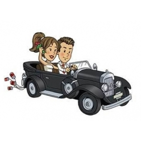 Cadeaux mariage stickers will et grace