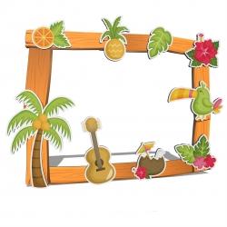 Photocall hawaïen