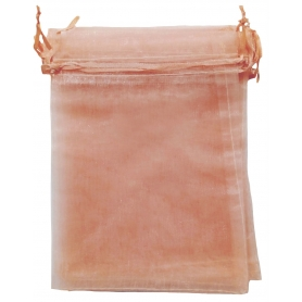 Pochette cadeau organza orange 13x17