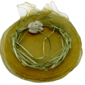 Accessoire mariage sac organza vert riz petale