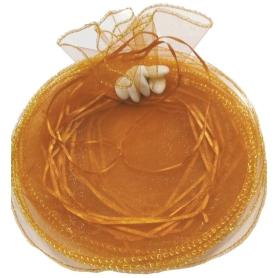 Accessoire mariage sac organza riz petale
