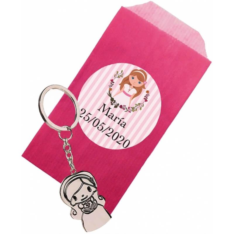 Porte-clés fille communion