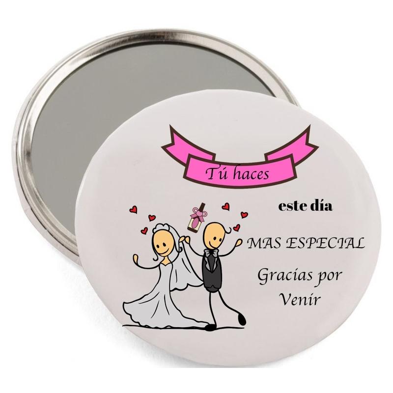 Miroir de poche mariage