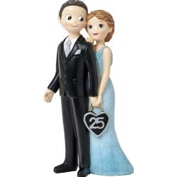 Figurine de mariage en argent
