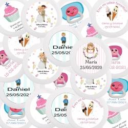 Badges de mariage personnalisés